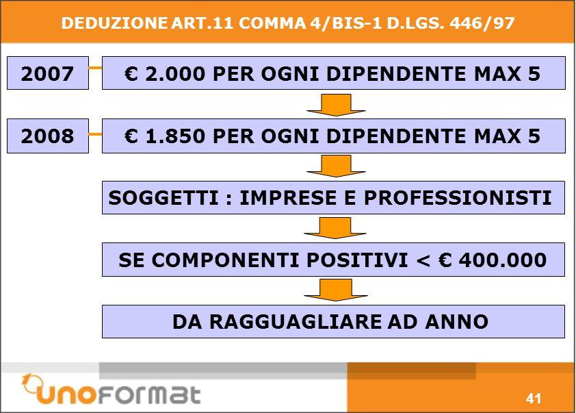 DEDUZIONE ART.11 COMMA 4/BIS-1 D.LGS.