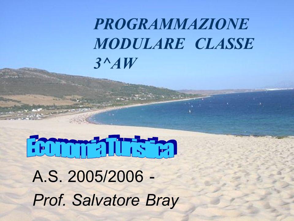 PROGRAMMAZIONE MODULARE CLASSE 3^AW A.S. 2005/2006 - Prof. Salvatore Bray