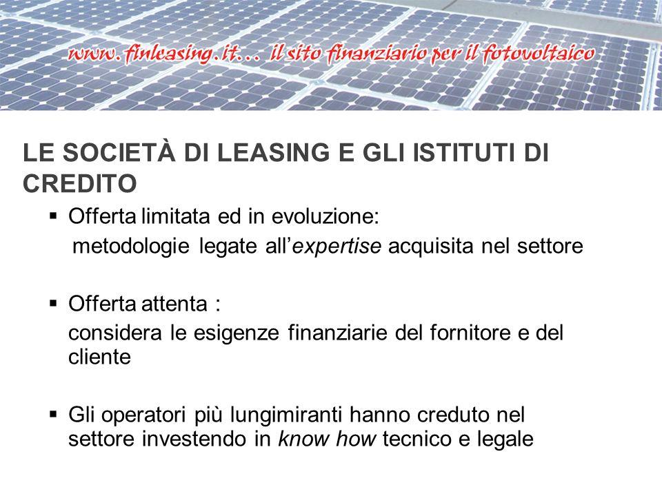 GLI STRUMENTI FINANZIARI Mutui Leasing Project financing Fondi e private equity