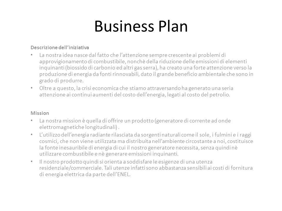 Business Plan Descrizione delliniziativa La nostra idea nasce dal fatto che lattenzione sempre crescente ai problemi di approvigionamento di combustib