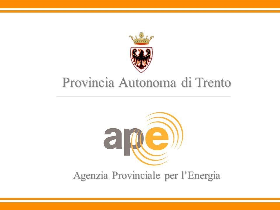 Provincia Autonoma di Trento Agenzia Provinciale per lEnergia