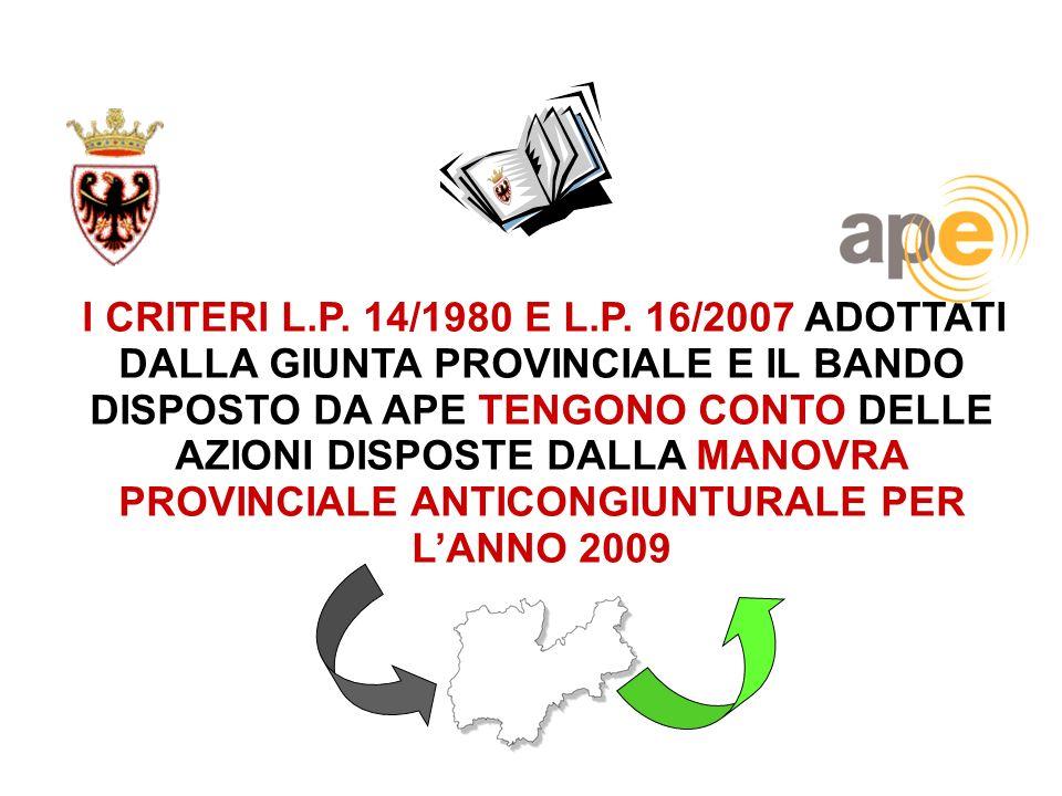 I CRITERI L.P.14/1980 E L.P.