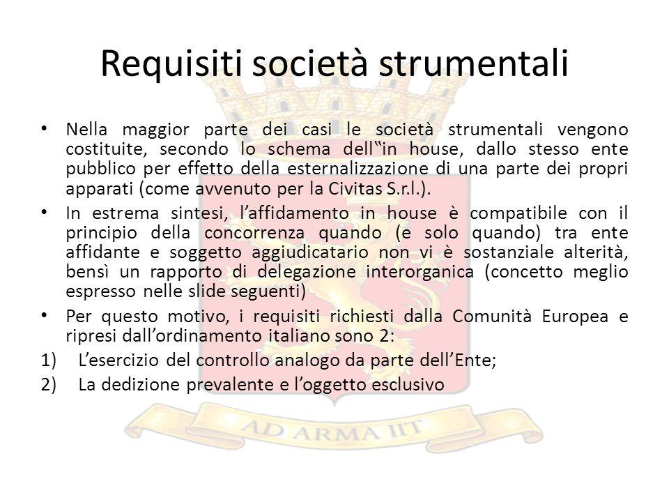 Lesercizio del controllo analogo da parte del Comune di Ventimiglia (1) Civitas agisce solo su impulso del Comune e non del suo Consiglio di amministrazione.
