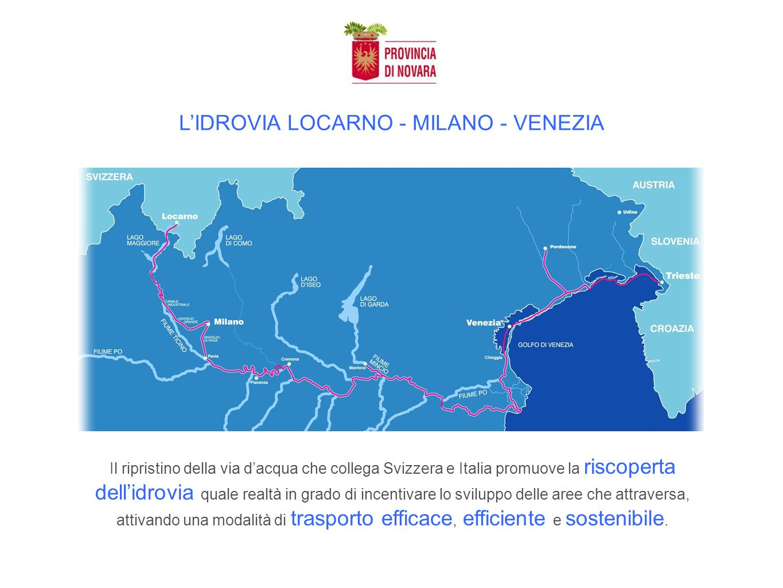 LIDROVIA LOCARNO - MILANO - VENEZIA Il ripristino della via dacqua che collega Svizzera e Italia promuove la riscoperta dellidrovia quale realtà in grado di incentivare lo sviluppo delle aree che attraversa, attivando una modalità di trasporto efficace, efficiente e sostenibile.