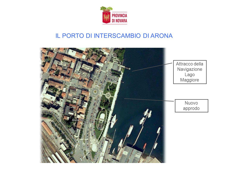 IL PORTO DI INTERSCAMBIO DI ARONA Attracco della Navigazione Lago Maggiore Nuovo approdo