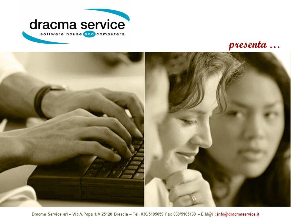 presenta … Dracma Service srl – Via A.Papa 1/A 25128 Brescia – Tel. 030/5105059 Fax 030/5105130 – E-M@il: info@dracmaservice.itinfo@dracmaservice.it