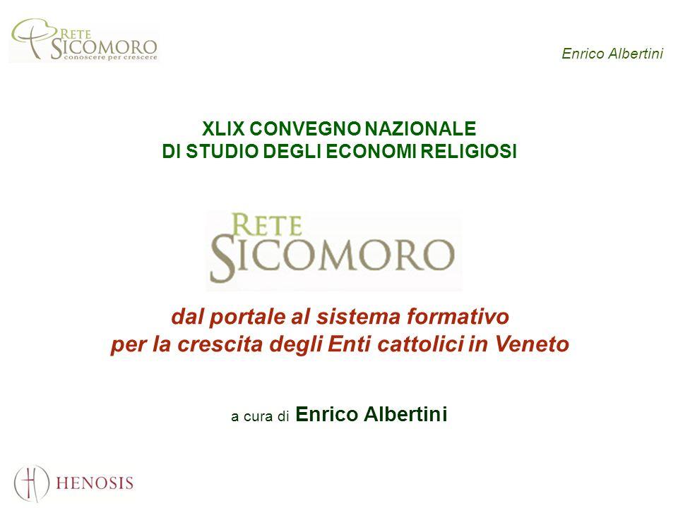 Enrico Albertini XLIX CONVEGNO NAZIONALE DI STUDIO DEGLI ECONOMI RELIGIOSI dal portale al sistema formativo per la crescita degli Enti cattolici in Ve