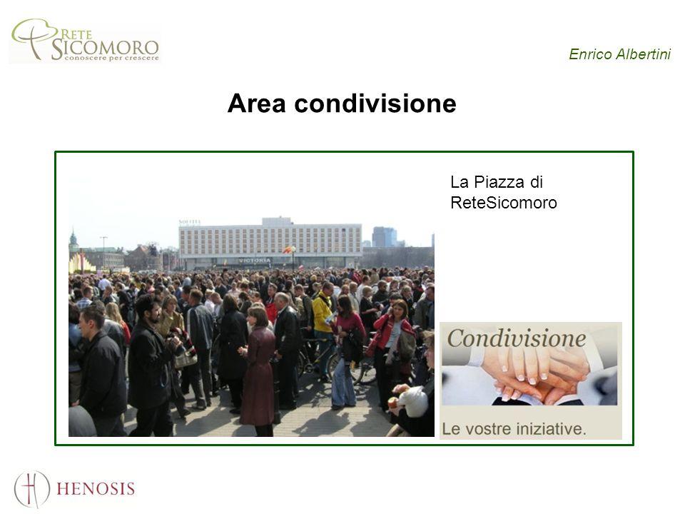 Enrico Albertini Area condivisione La Piazza di ReteSicomoro