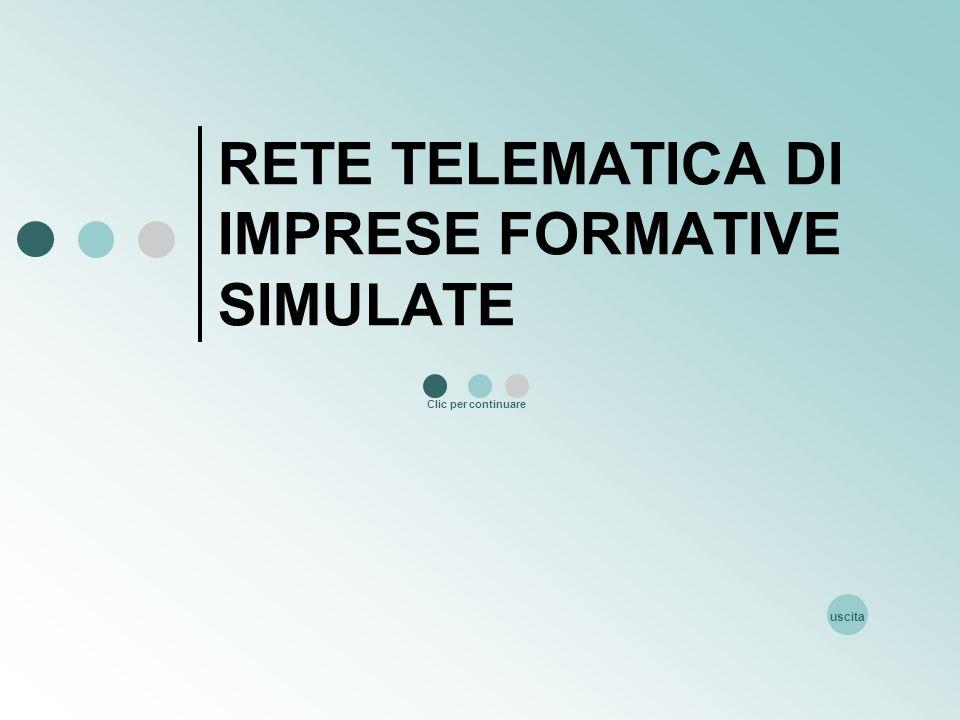 RETE TELEMATICA DI IMPRESE FORMATIVE SIMULATE Clic per continuare uscita