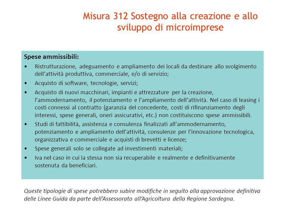 Spese ammissibili: Ristrutturazione, adeguamento e ampliamento dei locali da destinare allo svolgimento dellattività produttiva, commerciale, e/o di s