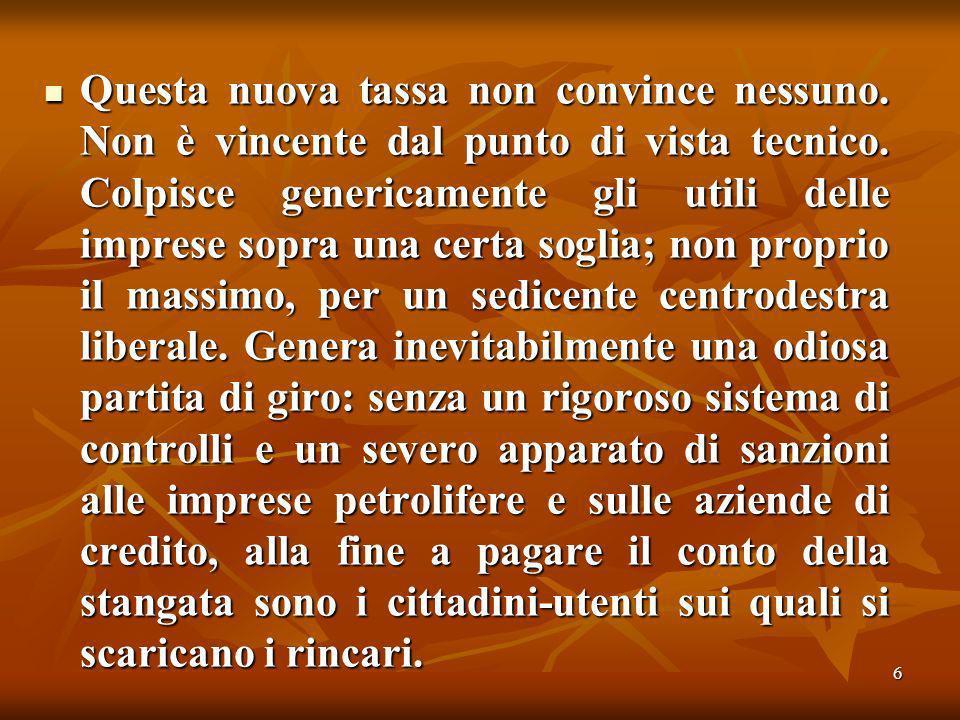 67 In sostanza il Popolo della Libertà non possiede ricette per il nuovo grande miracolo italiano.
