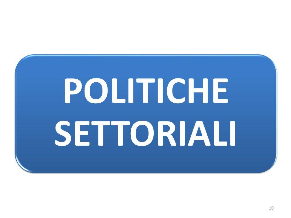 POLITICHE SETTORIALI 10