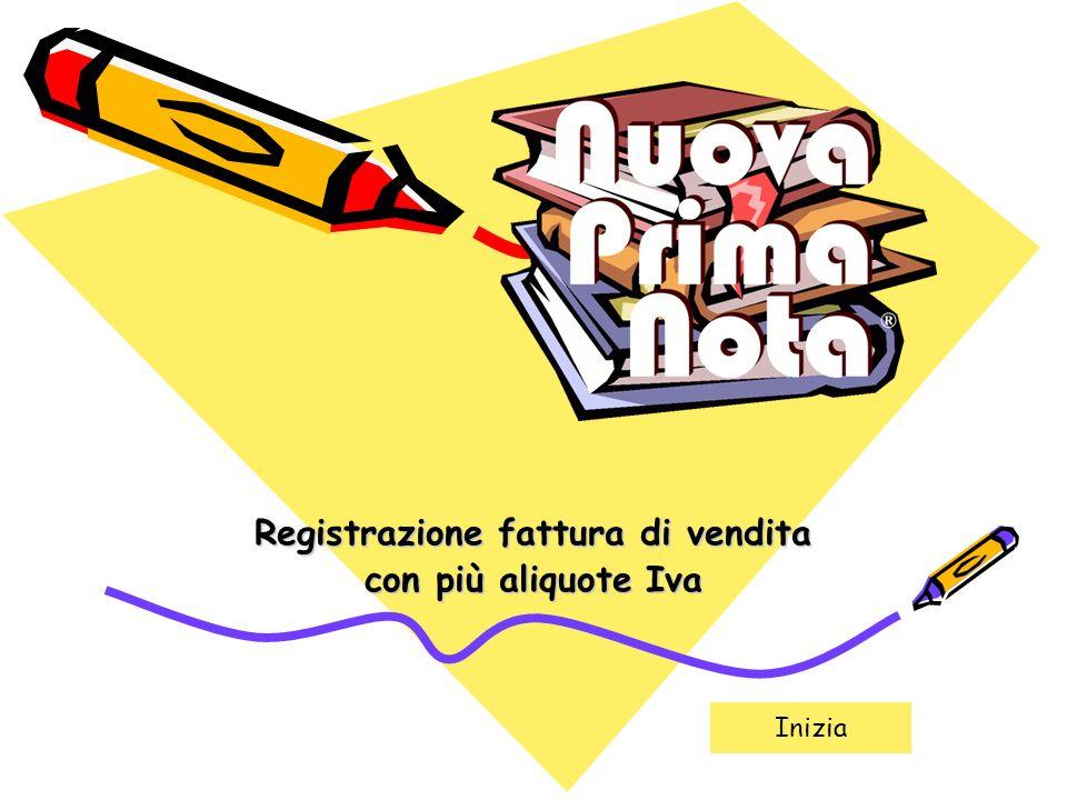 Indietro Avanti Nuova Prima Nota - Fattura di vendita2 Esempio di registrazione: Fattura di vendita a cliente Bianchetti S.R.L.