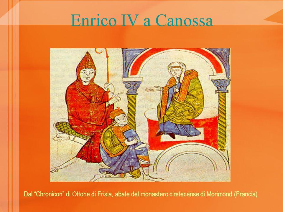 Enrico IV a Canossa Dal Chronicon di Ottone di Frisia, abate del monastero cirstecense di Morimond (Francia)
