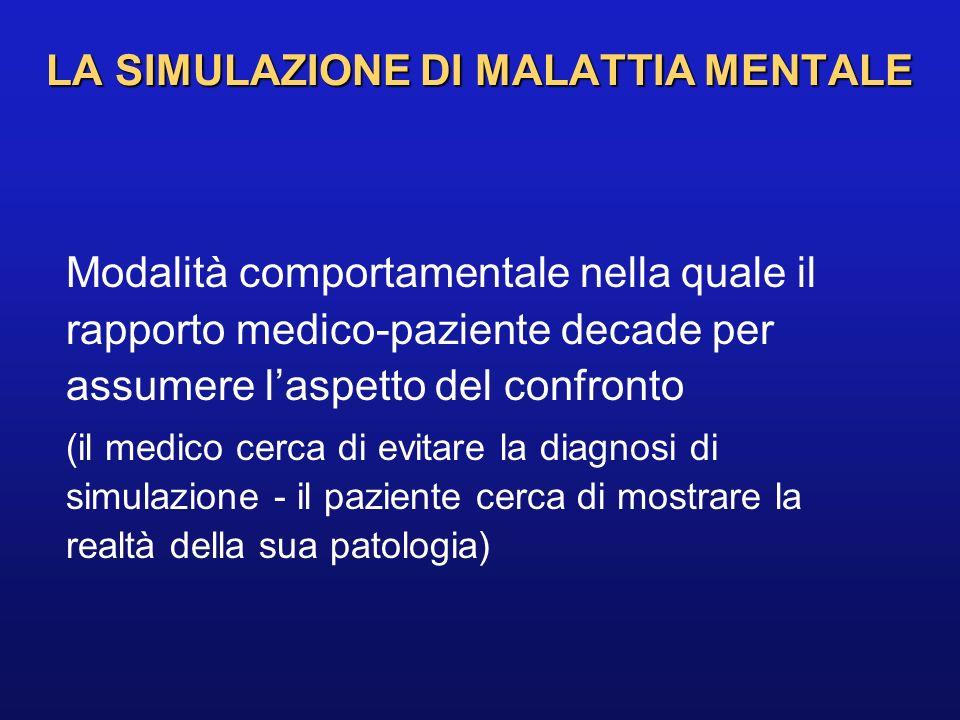 Modalità comportamentale nella quale il rapporto medico-paziente decade per assumere laspetto del confronto (il medico cerca di evitare la diagnosi di