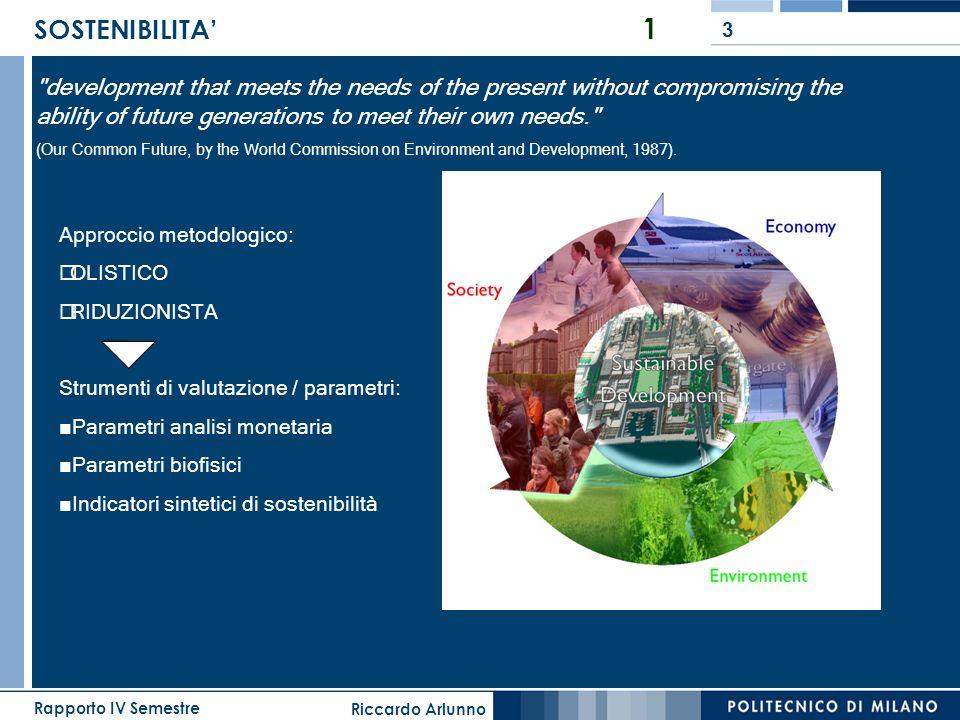 Riccardo Arlunno Rapporto IV Semestre 3 SOSTENIBILITA 1