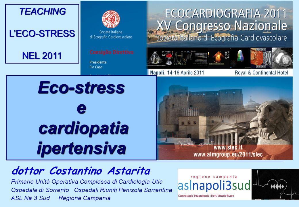 dottor Costantino Astarita Primario Unità Operativa Complessa di Cardiologia-Utic Ospedale di Sorrento Ospedali Riuniti Penisola Sorrentina ASL Na 3 S