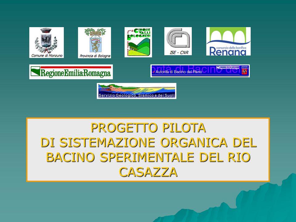 PROGETTO PILOTA DI SISTEMAZIONE ORGANICA DEL BACINO SPERIMENTALE DEL RIO CASAZZA Carta delle infrastrutture esistenti