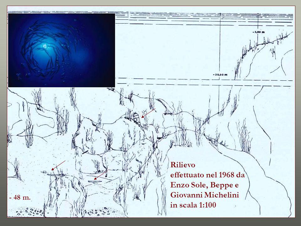 Rilievo effettuato nel 1968 da Enzo Sole, Beppe e Giovanni Michelini in scala 1:100 - 48 m.
