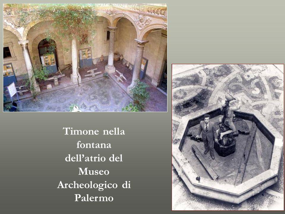 Timone nella fontana dellatrio del Museo Archeologico di Palermo