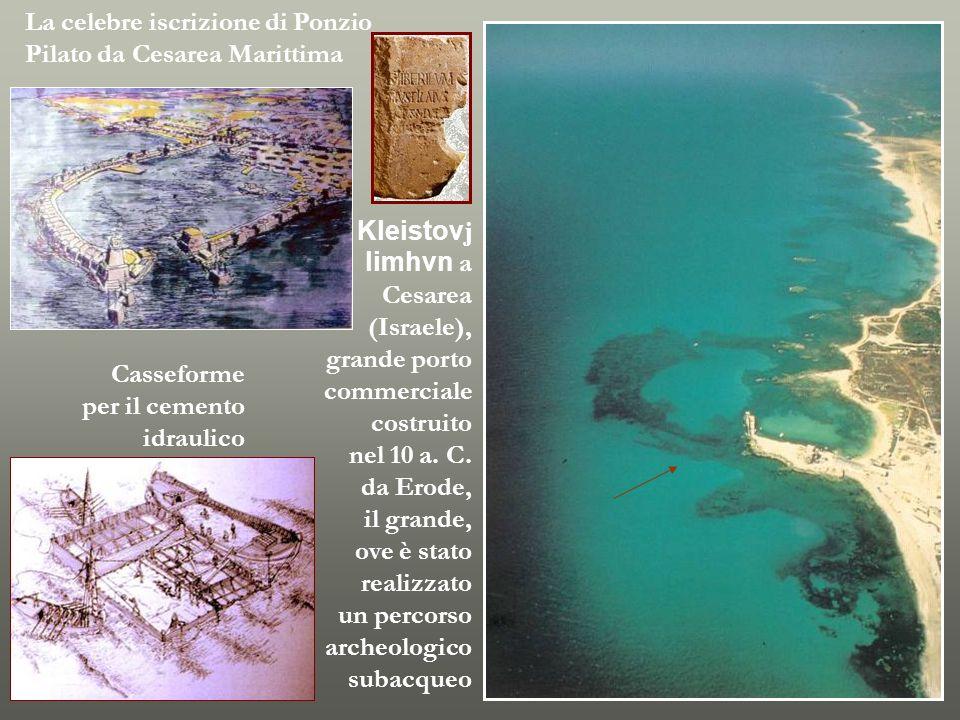 Kleistovj limhvn a Cesarea (Israele), grande porto commerciale costruito nel 10 a. C. da Erode, il grande, ove è stato realizzato un percorso archeolo