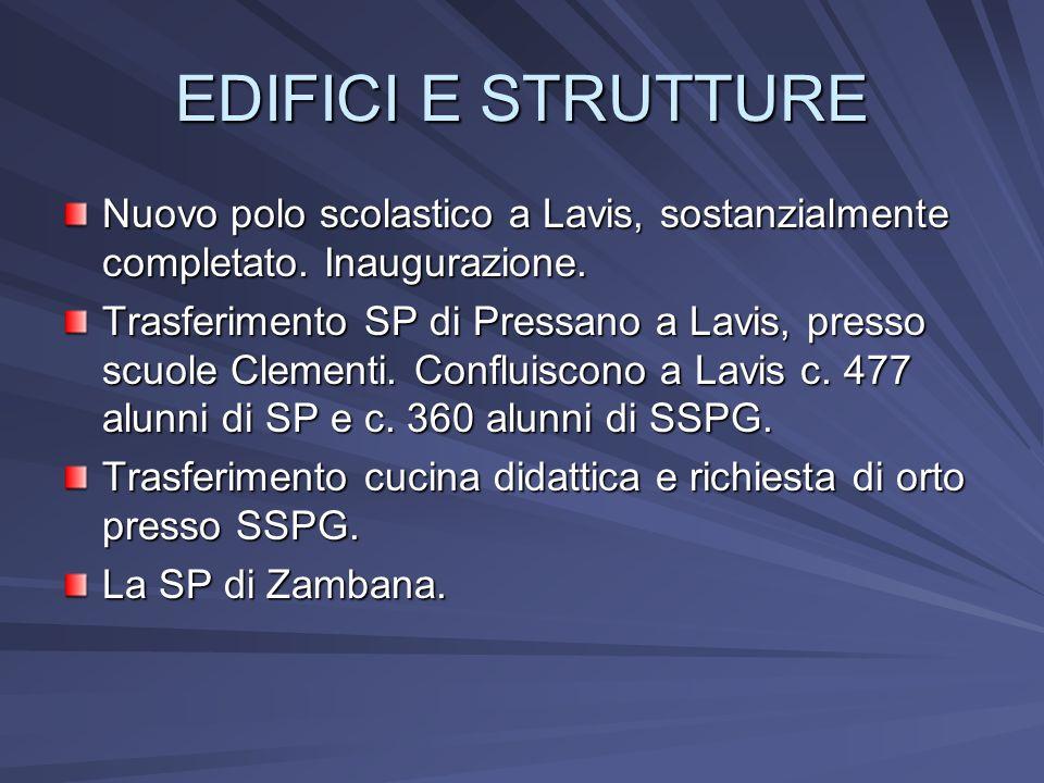 EDIFICI E STRUTTURE Nuovo polo scolastico a Lavis, sostanzialmente completato.