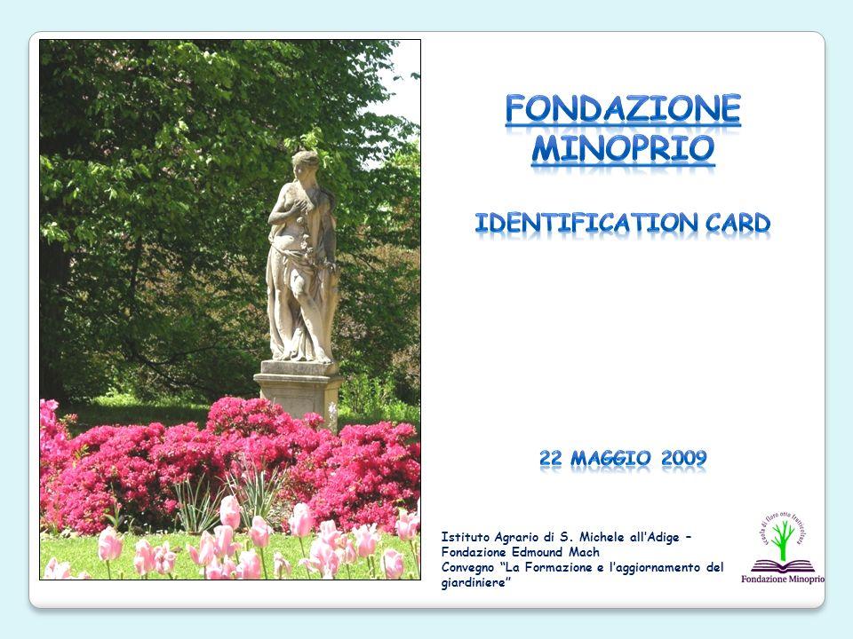 Fondazione no-profit legalmente riconosciuta con Decreto n.