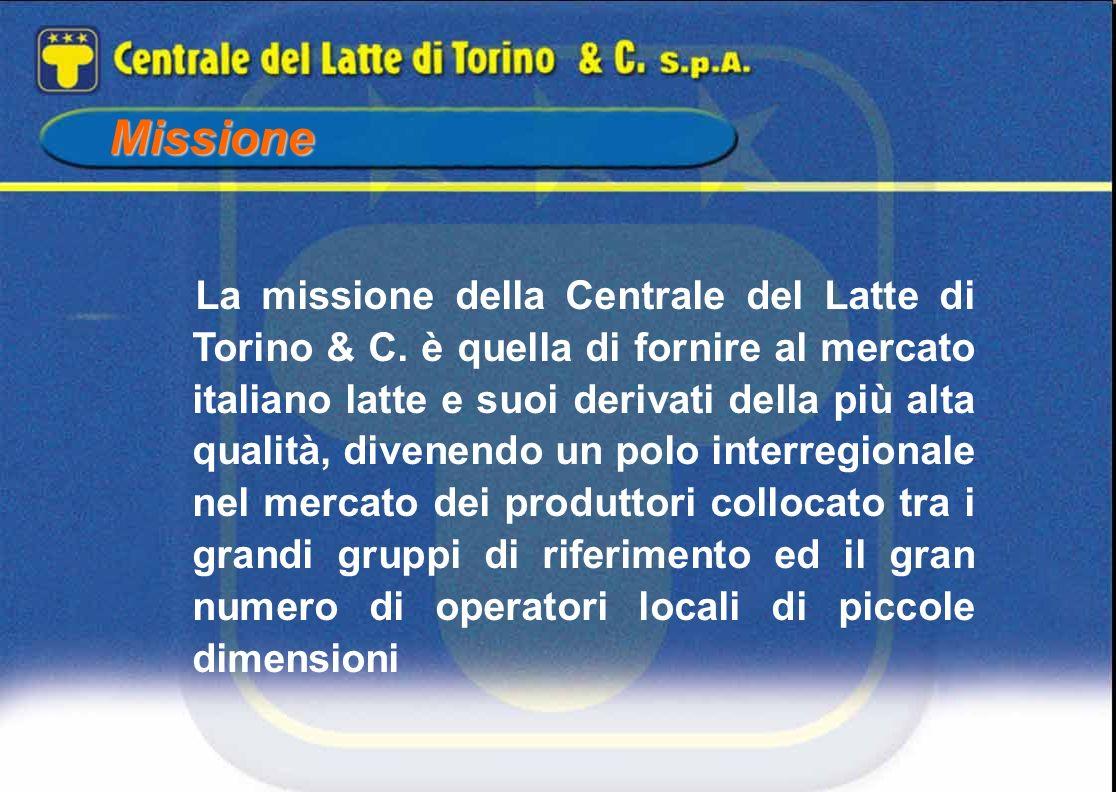 Missione La missione della Centrale del Latte di Torino & C. è quella di fornire al mercato italiano latte e suoi derivati della più alta qualità, div