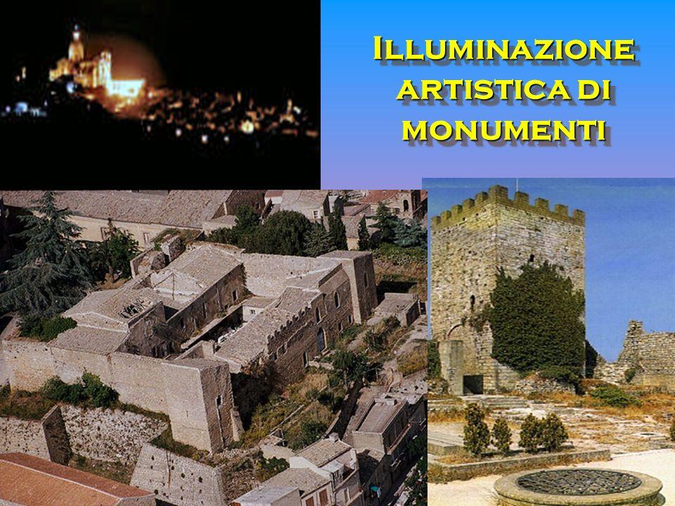 Illuminazione artistica di monumenti