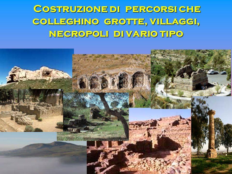 Costruzione di percorsi che colleghino grotte, villaggi, necropoli di vario tipo Costruzione di percorsi che colleghino grotte, villaggi, necropoli di
