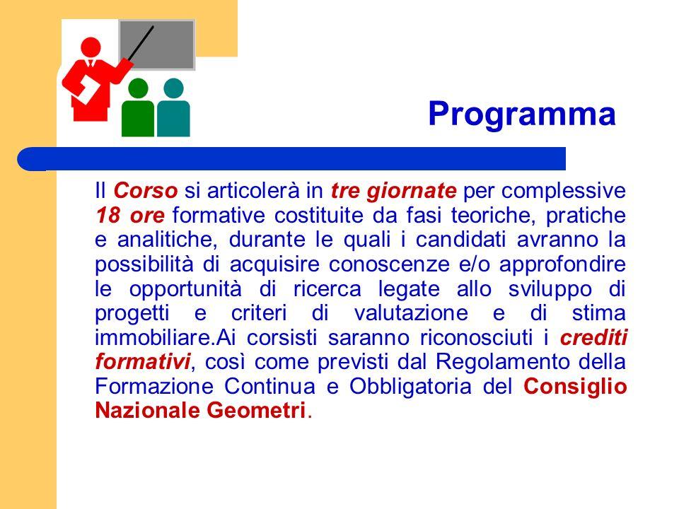 Programma Il Corso si articolerà in tre giornate per complessive 18 ore formative costituite da fasi teoriche, pratiche e analitiche, durante le quali