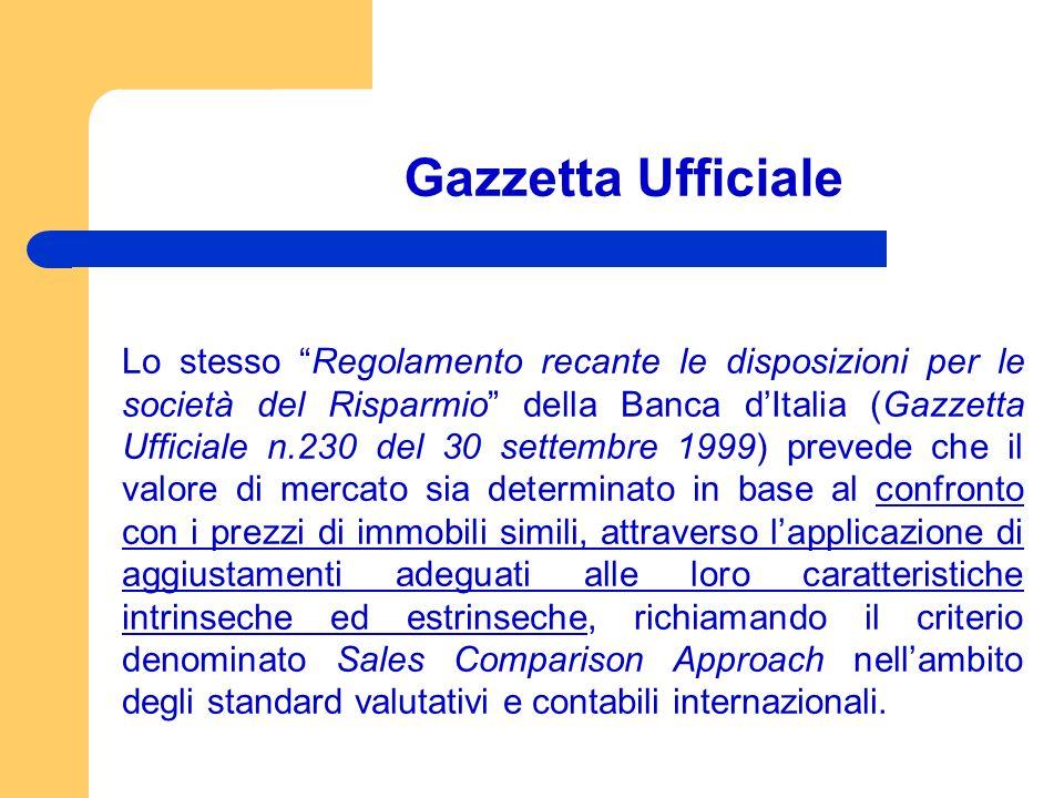 Gazzetta Ufficiale Lo stesso Regolamento recante le disposizioni per le società del Risparmio della Banca dItalia (Gazzetta Ufficiale n.230 del 30 set