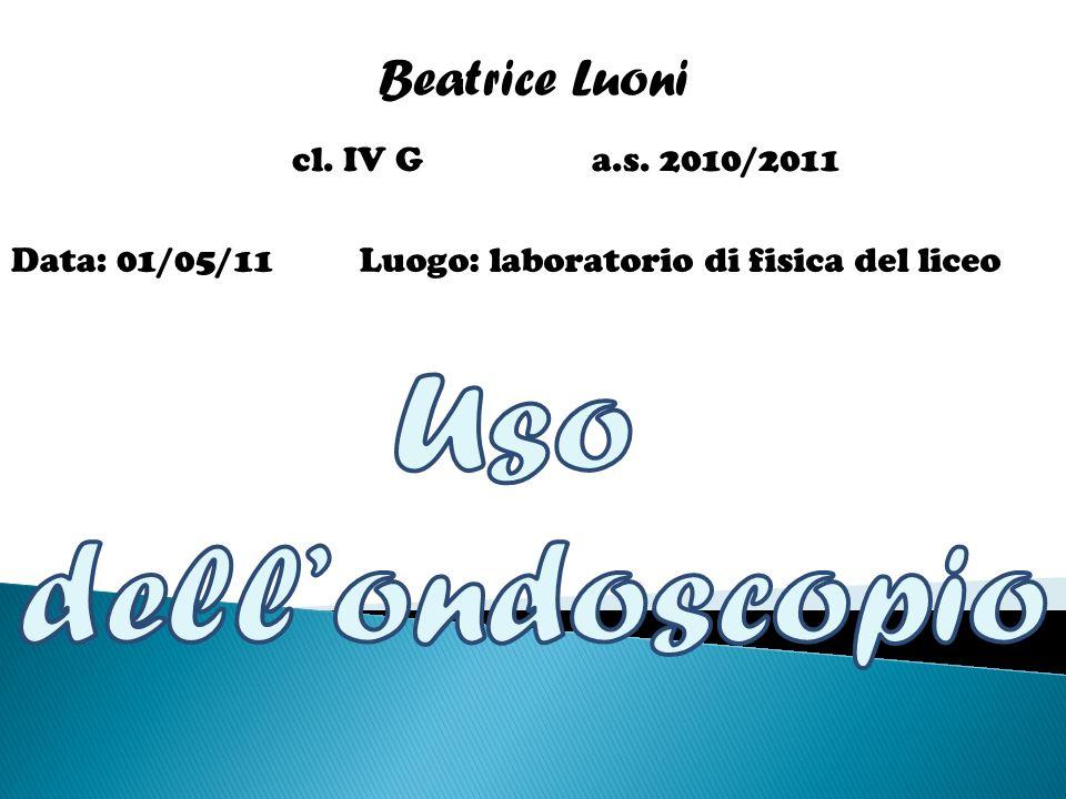 Beatrice Luoni cl. IV G a.s. 2010/2011 Data: 01/05/11Luogo: laboratorio di fisica del liceo