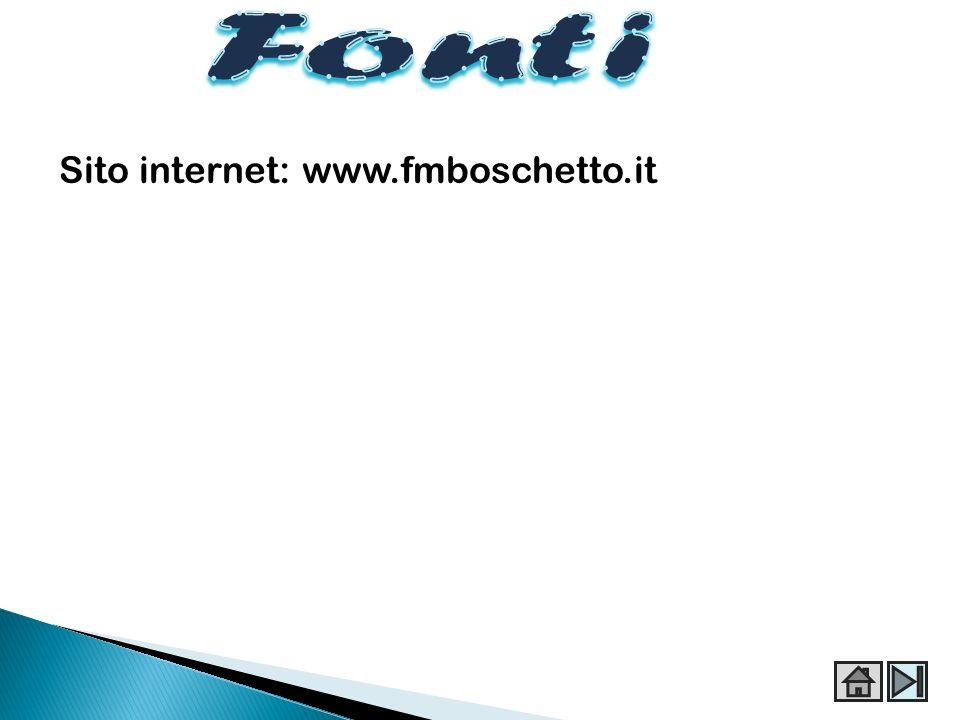 Sito internet: www.fmboschetto.it