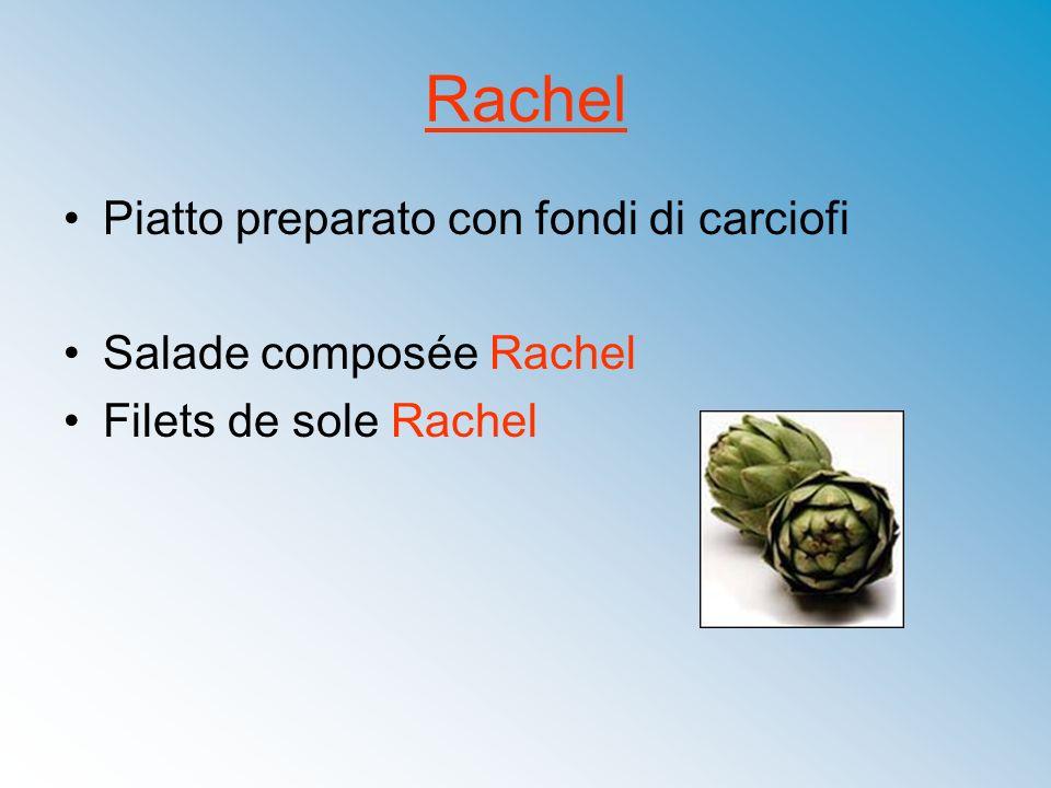 Rachel Piatto preparato con fondi di carciofi Salade composée Rachel Filets de sole Rachel