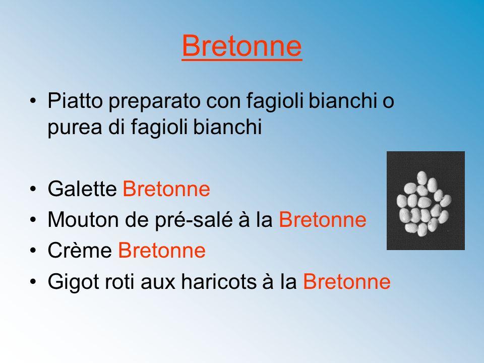Bretonne Piatto preparato con fagioli bianchi o purea di fagioli bianchi Galette Bretonne Mouton de pré-salé à la Bretonne Crème Bretonne Gigot roti a