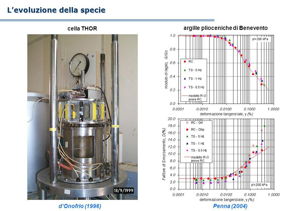 argille plioceniche di Benevento cella THOR Levoluzione della specie dOnofrio (1996)Penna (2004)