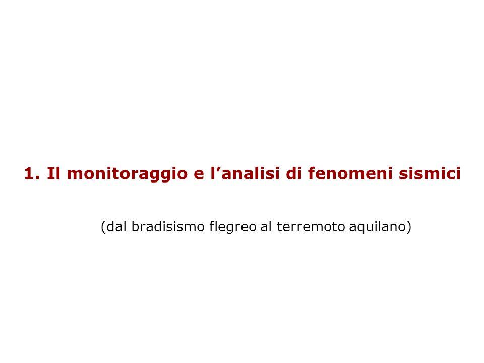 1. Il monitoraggio e lanalisi di fenomeni sismici (dal bradisismo flegreo al terremoto aquilano)