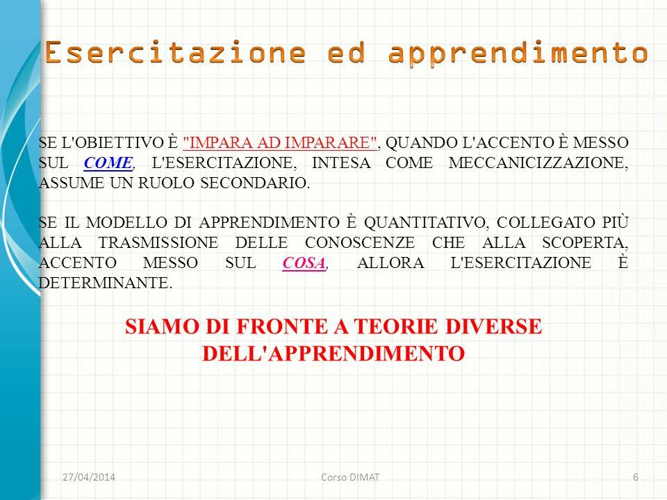 27/04/2014Corso DIMAT6 SE L'OBIETTIVO È
