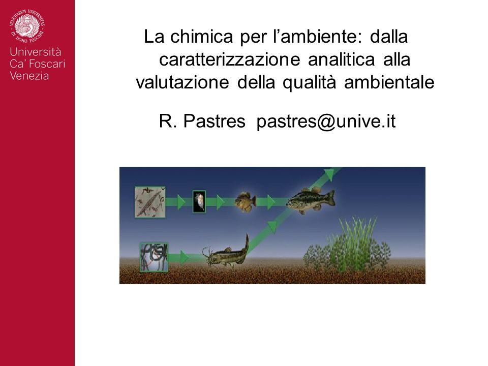 La chimica per lambiente: dalla caratterizzazione analitica alla valutazione della qualità ambientale R. Pastrespastres@unive.it