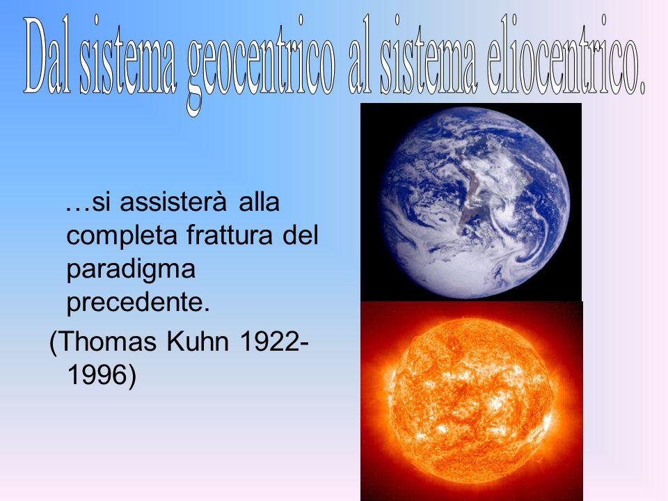 …si assisterà alla completa frattura del paradigma precedente. (Thomas Kuhn 1922- 1996)