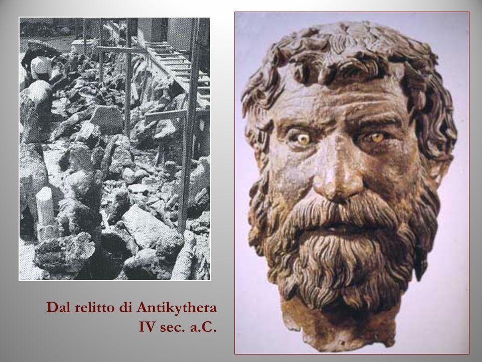Dal relitto di Antikythera IV sec. a.C.