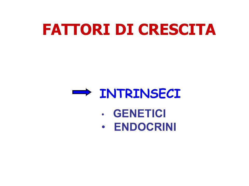 FATTORI DI CRESCITA INTRINSECI GENETICI ENDOCRINI