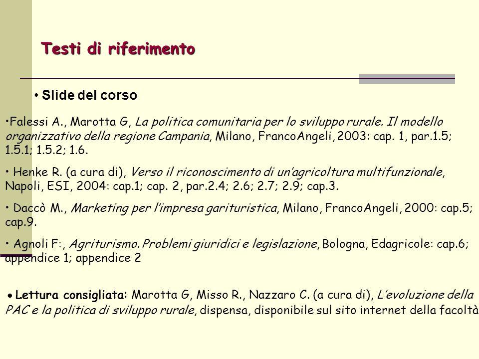Falessi A., Marotta G, La politica comunitaria per lo sviluppo rurale.