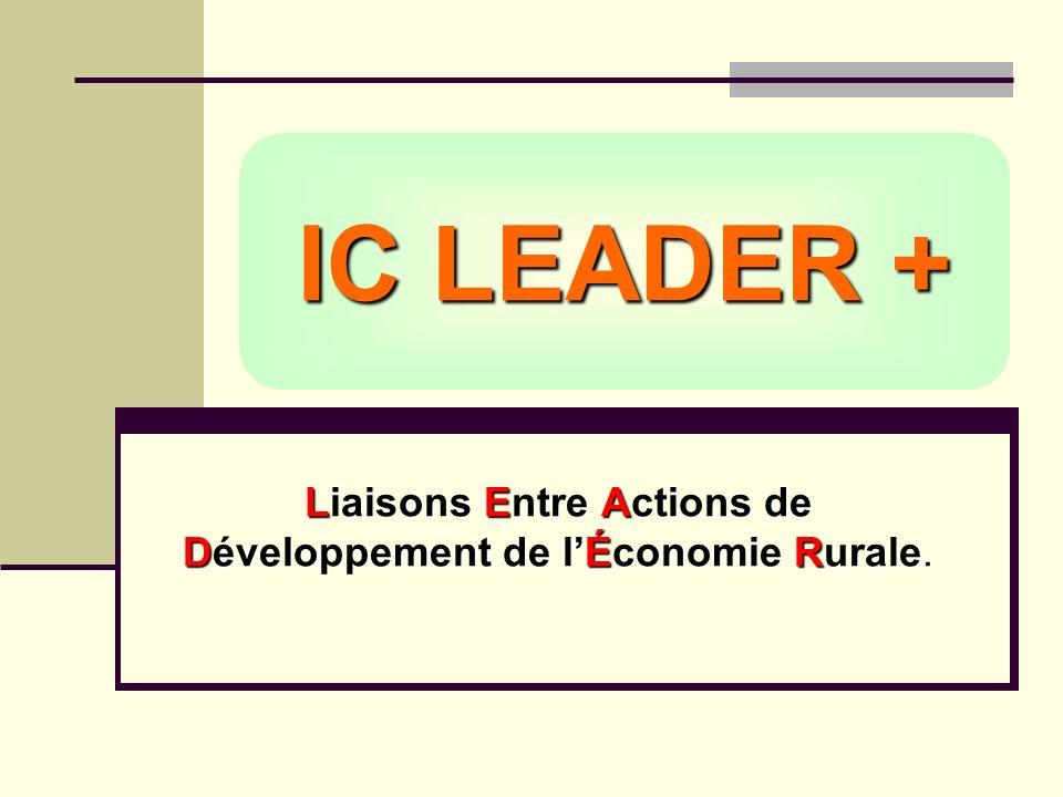 IC LEADER + Liaisons Entre Actions de Développement de lÉconomie Rurale Liaisons Entre Actions de Développement de lÉconomie Rurale.