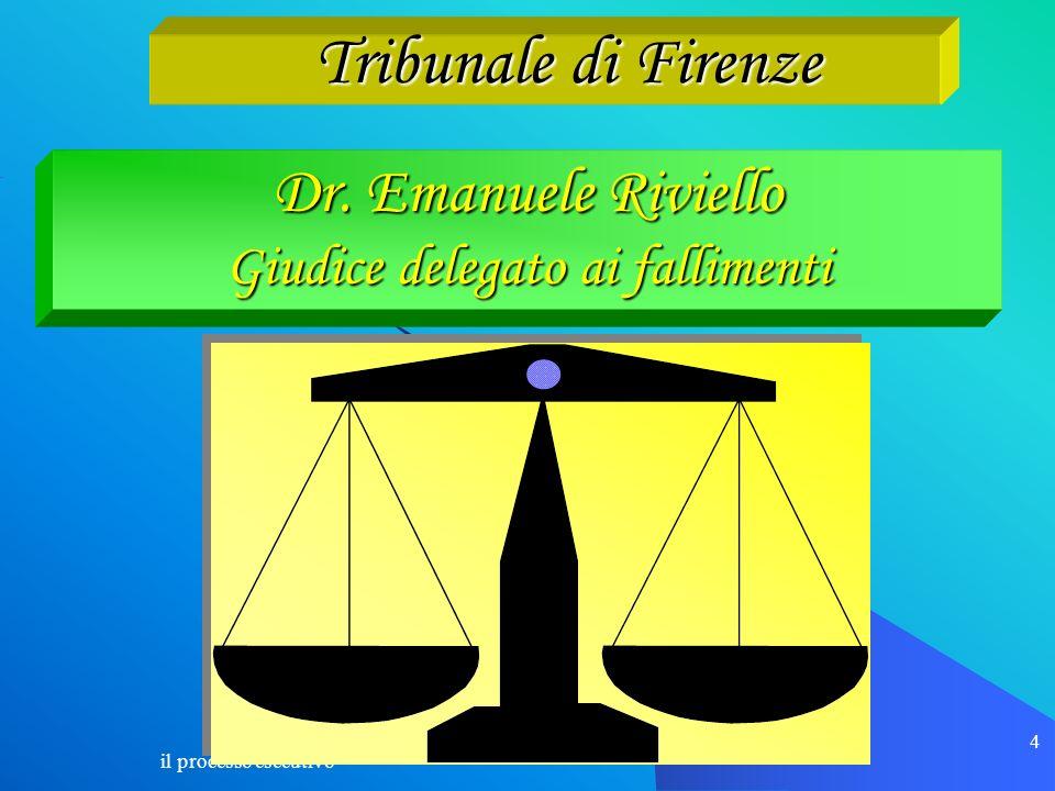 4 Dr. Emanuele Riviello Giudice delegato ai fallimenti Tribunale di Firenze Tribunale di Firenze