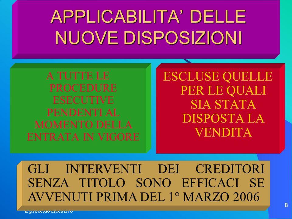 il processo esecutivo 119 LA DISTRIBUZIONE MASSA PASSIVA SEMPRE DOVUTE SPESE DI PROCEDURA C.T.U.
