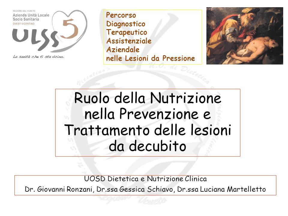 Percorso Diagnostico Terapeutico Assistenziale Aziendale nelle Lesioni da Pressione UOSD Dietetica e Nutrizione Clinica Dr.