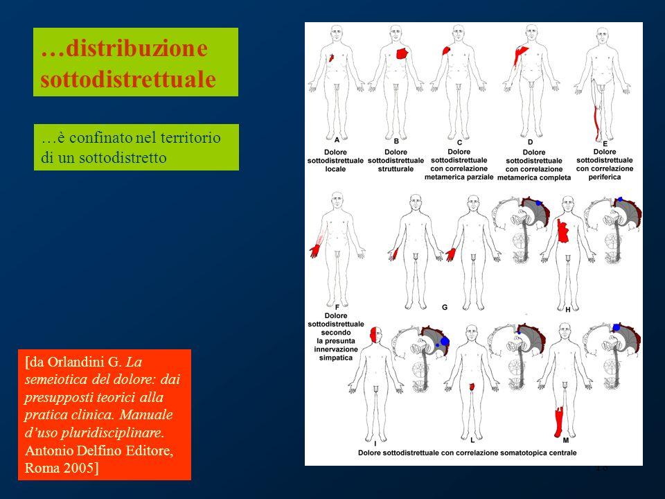 18 …distribuzione sottodistrettuale …è confinato nel territorio di un sottodistretto [da Orlandini G. La semeiotica del dolore: dai presupposti teoric