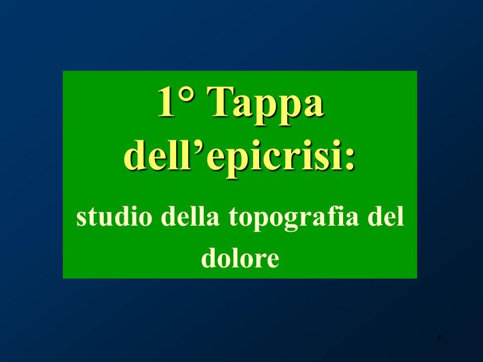 26 5° Tappa dellepicrisi: la diagnosi nosologica Medicina del dolore, Casa di Cura Cellini Torino